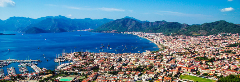View of Marmaris harbor on Turkish Riviera.