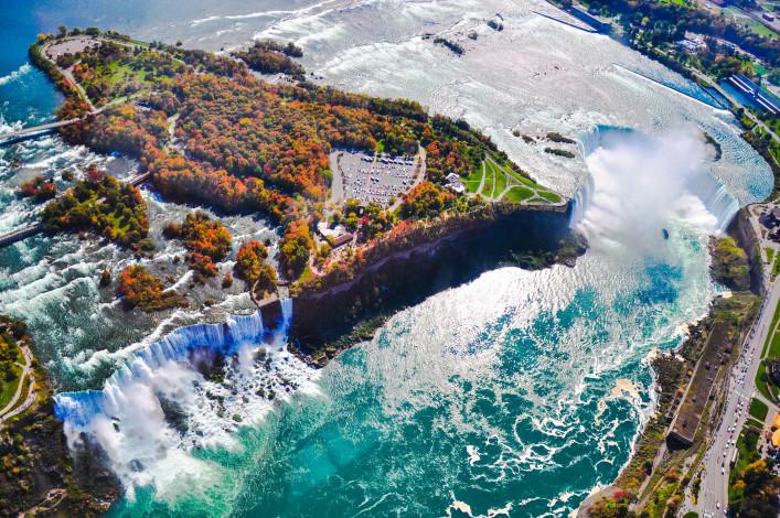 Niagara Falls, Aerial view, Ontario, Canada shutterstock_130290689-2