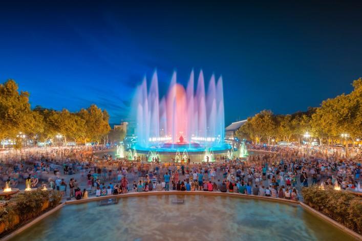 Sehenswürdigkeiten in Barcelona Magischer Brunnen Magic Fountain