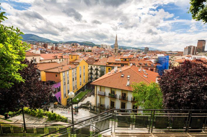 Der Blick auf die spanische Stadt Bilbao