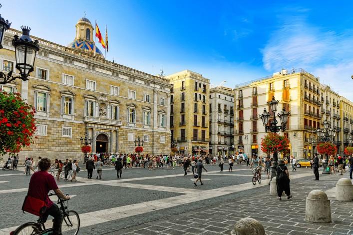 Sehenswürdigkeiten in Barcelona Placa de Sant Jaume