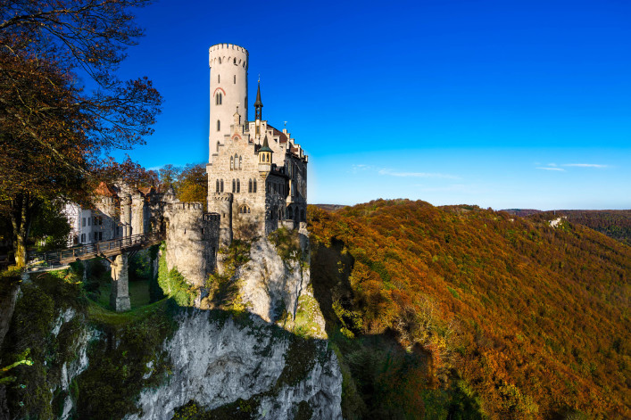 LICHTENSTEIN, GERMANY – OCTOBER 19, 2014: The castle of Lichtenstein was build in the 19th century