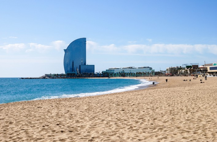 Sehenswürdigkeiten in Barcelona Strand St Sebastian