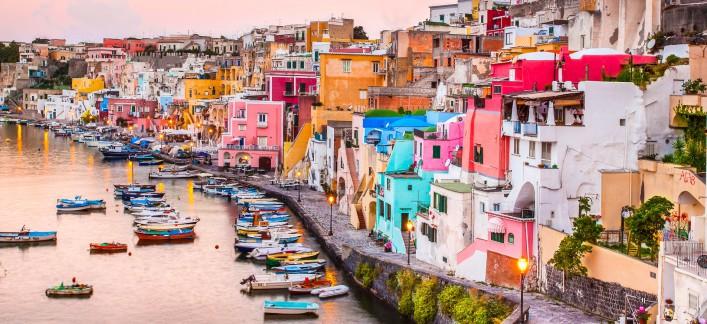 Procida La Corricella Golf von Neapel