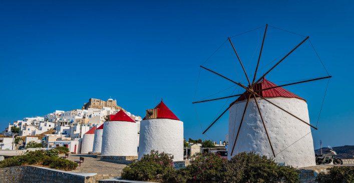 Wind mills in Astyplaia island Greece shutterstock_402297685-2