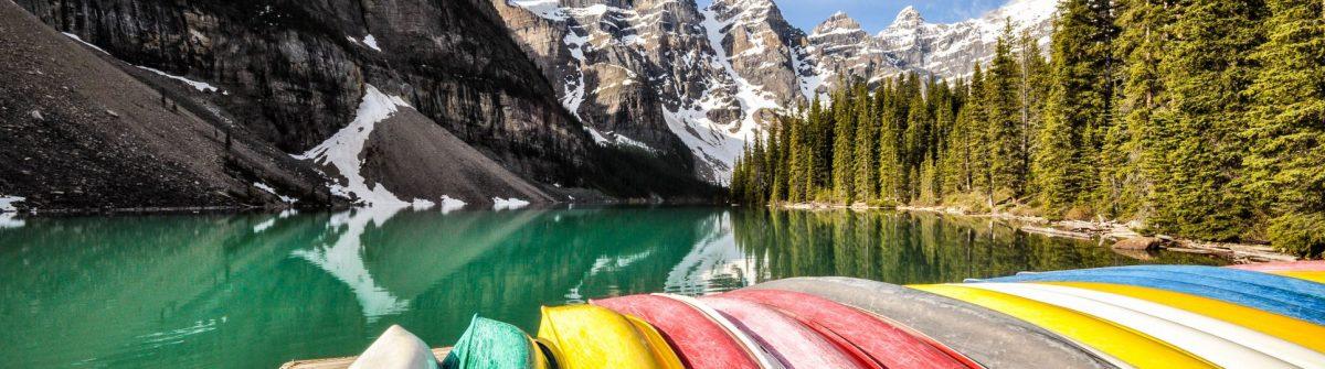 Kanu im Banff Nationalpark in Kanada