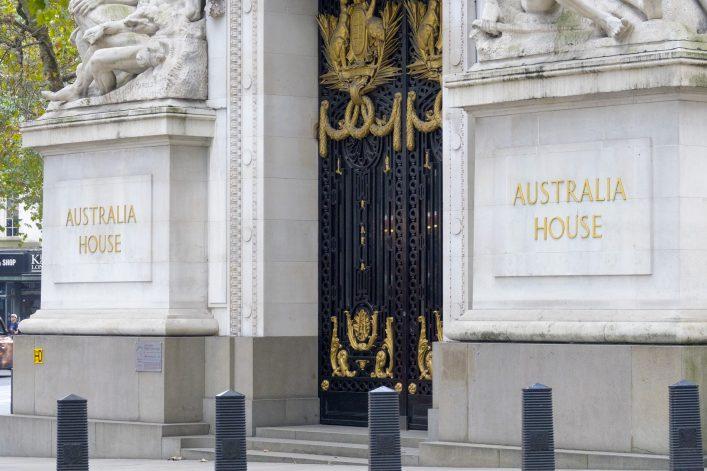 London Australia House Harry Potter Drehort EDITORIAL ONLY 4kclips shutterstock_507608620