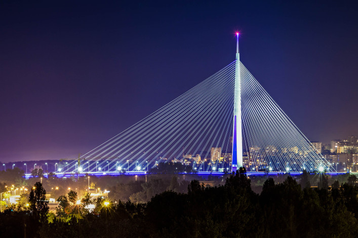 Ada bridge in the center of Belgrade shutterstock_430379371-2