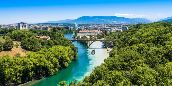 Genf Schweiz Fluss Natur