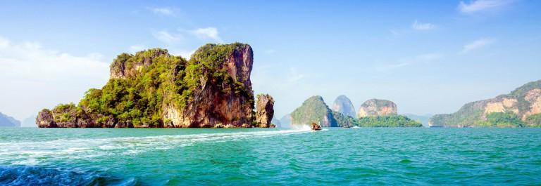 Amazing scenery of National Park in Phang Nga Bay