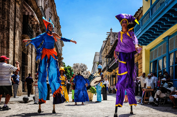 Carnival on the Obispo street in Old Havana Cuba iStock_000094246355_Large EDITORIAL ONLY LulianU-2