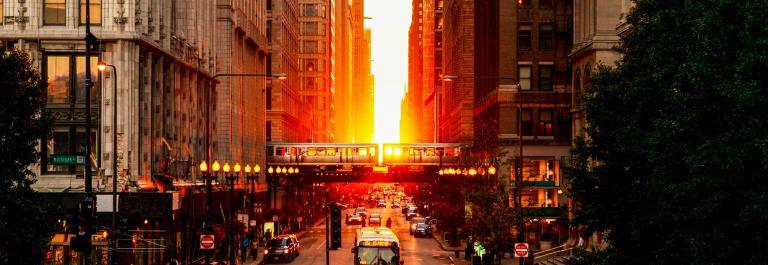 Chicago Magnificent Mile Sunset