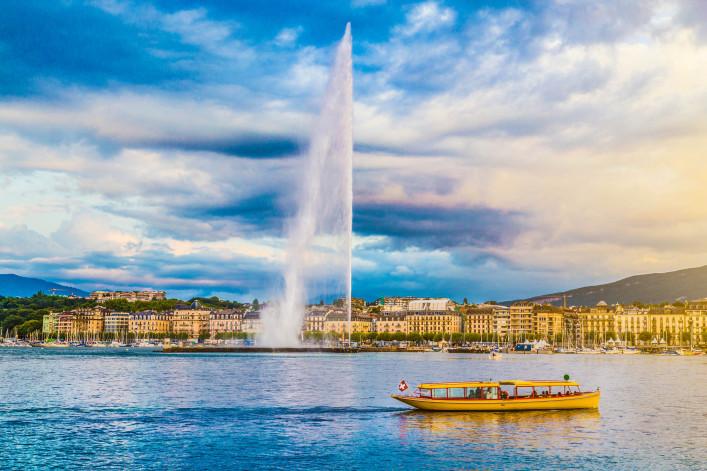 Genf Genfer See Jet d'Eau