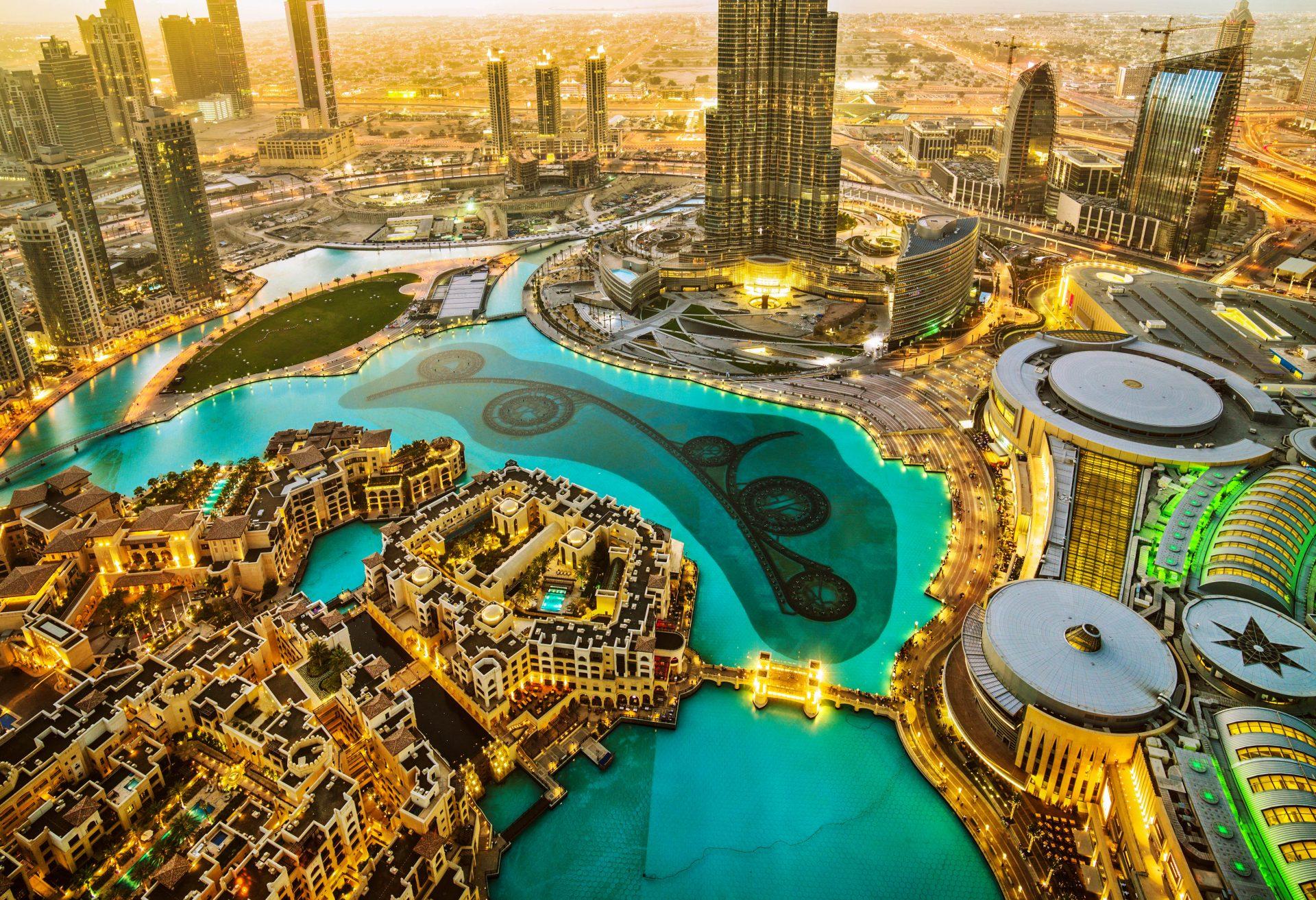 Aussicht vom Burj Khalifa Dubai
