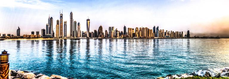 Dubai marina HDR skyline iStock_000074297987_Large-2