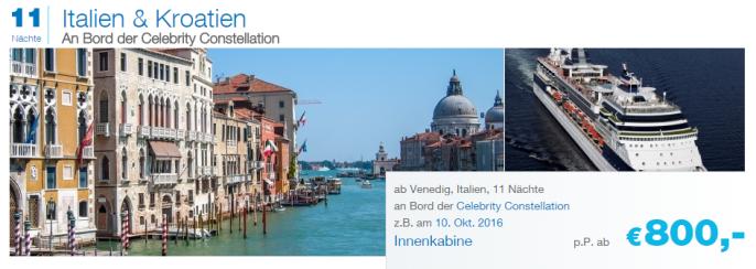 Italien-Kroatien-Celebrity-Constellation