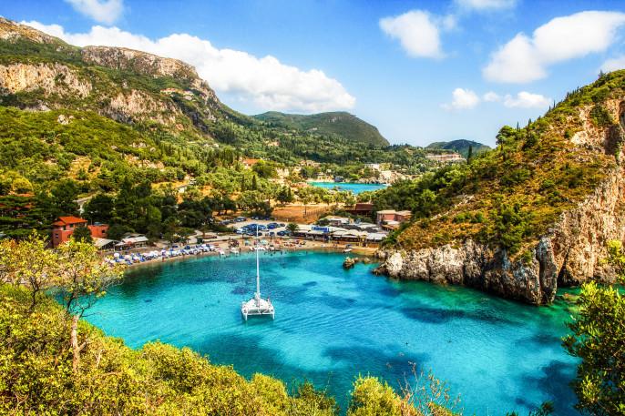 Eine schöne Bucht auf Korfu in Griechenland Korfu Tipps