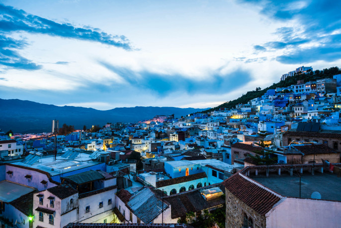 Marokko Chefchaouen Evening iStock_000069389595_Large-2