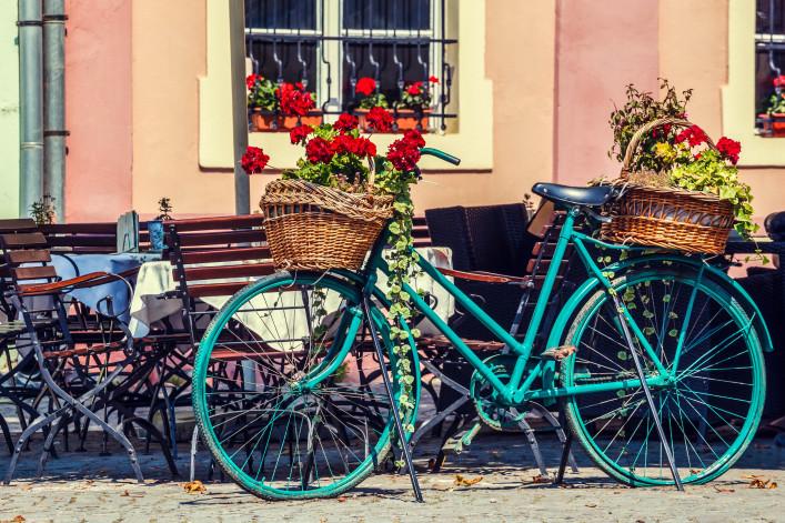 Schäßburg Rumänien Fahrrad