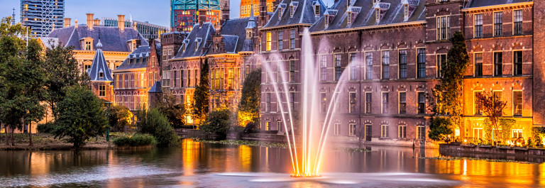 Parliament buildings in The Hague