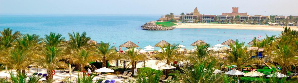 Recreation area of luxury hotel and beach with luxury villas, Ras Al Khaimah, UAE shutterstock_109177196