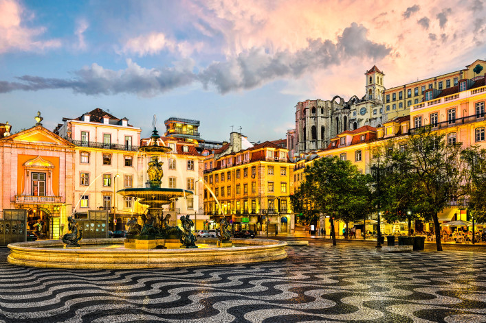 Rossio square in Lisbon, Portugal iStock_000069608703_Large-2