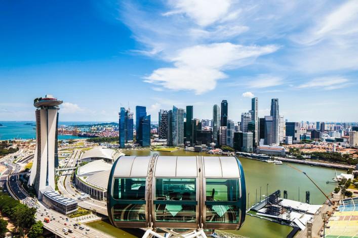 Singapur Tipps Flyer Riesenrad Skyline