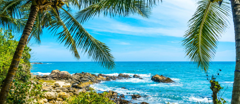 Tropical beach in Sri Lanka iStock_000040019332_Large-2