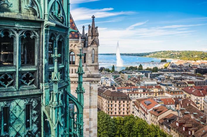 Genf St. Pierre Kathedrale Ausblick