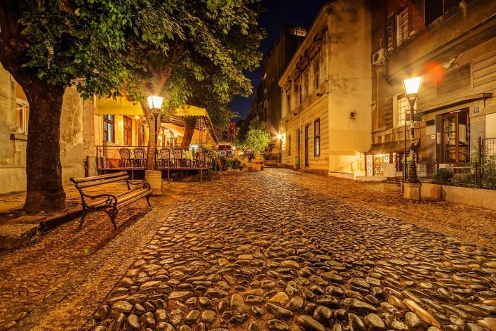 Vintage Skadarska street in Skadarlija, main bohemian quarter of Belgrade, Serbia shutterstock_224910856-2