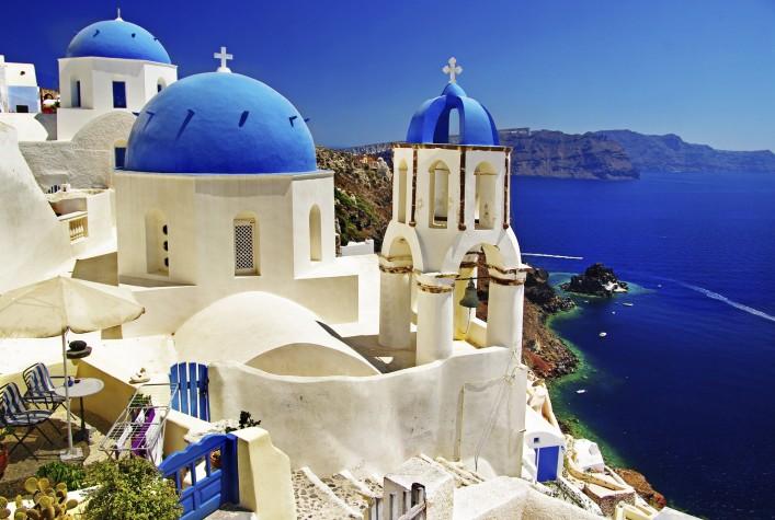 griechische Inseln Santorin