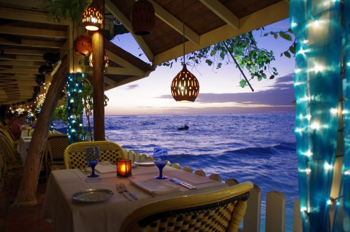 Pisces Restaurant at St. Lawrence Gap on Barbados Island shutterstock_402878356