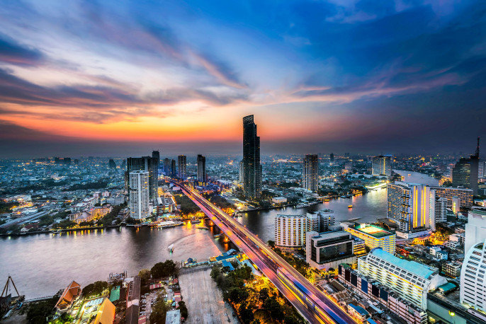 top view in Bangkok,Thailand
