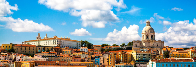 Beautiful view of Lisbon from the Tagus River Portugal iStock_000086417211_Large-2