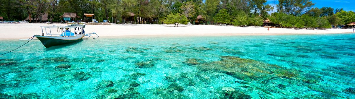 Beautiful turquoise sea of Gili Meno, Indonesia