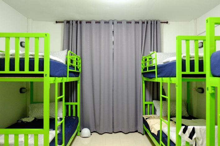 bunkbeds in hostel room