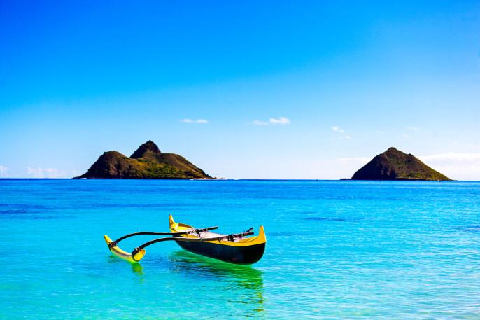 Lanikai Beach Oahu Hawaii iStock_000066844271_Large