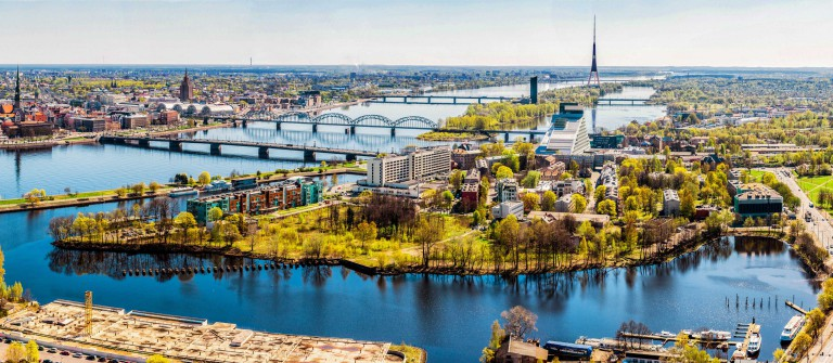 Panorama of Riga city. Latvia shutterstock_190752383-2