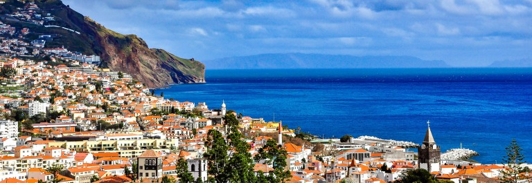 Panoramic view of Funchal, Madeira, Portugal iStock_000079902067_Large-2