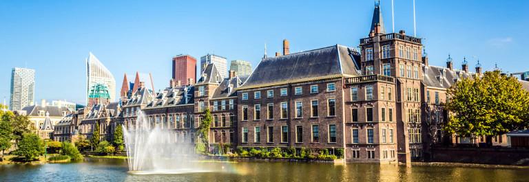 Parliament buildings in The Hague Den Haag Netherlands Niederlande iStock_000077669983_Large-2
