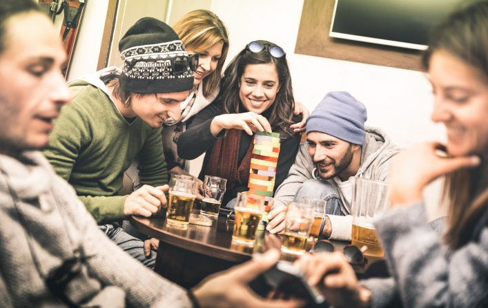 Friends beer hostel shutterstock_567790234
