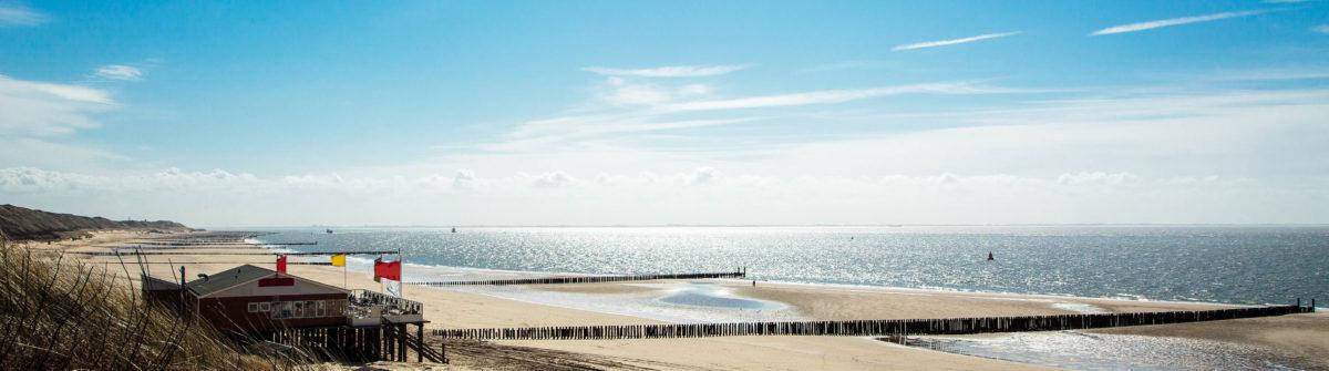 Sunny Beach at Zoutelande / Netherlands