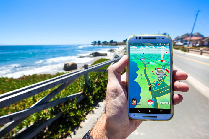 The hit augmented reality smartphone app Pokemon GO shutterstock_450883366 EDITORIAL ONLY Matthew Corley-2