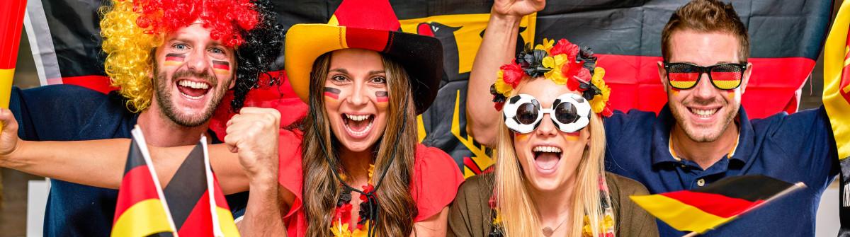 thrilled german soccer fans