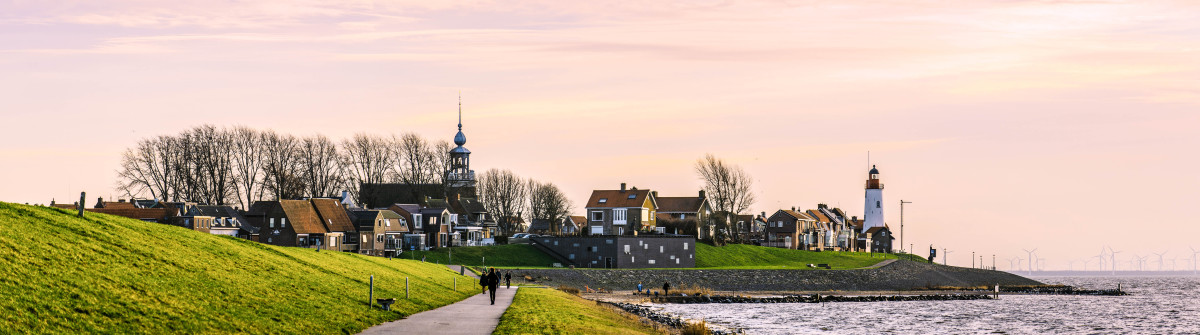 View of the town of Urk, located on the coast of the IJsselmeer, The Netherlands shutterstock_169953725-2