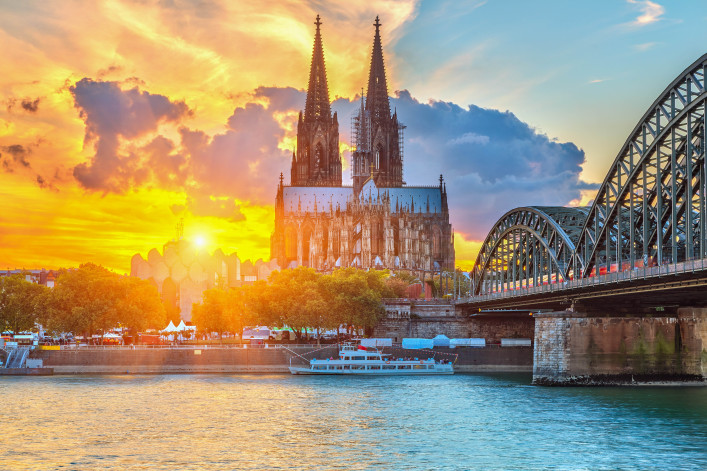 View on Cologne at sunset shutterstock_156199526-2