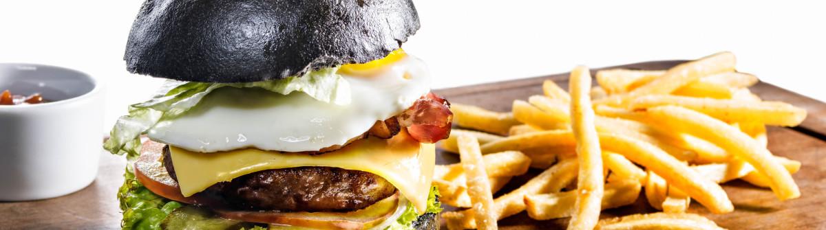Fast Food schwarzer Burger