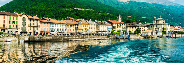Cannobio at Lake Maggiore from lakeside