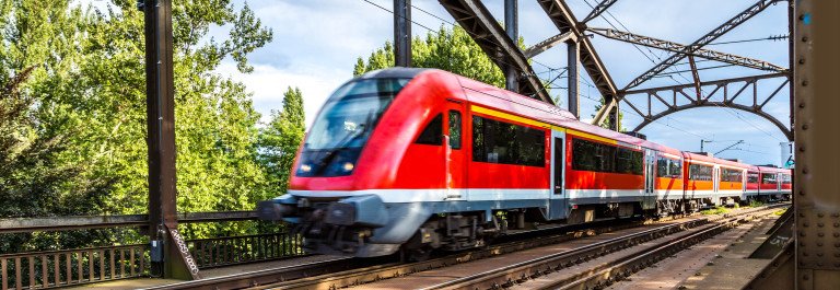 Electric InterCity Express in Frankfurt, Germany in a summer day shutterstock_246721618-2