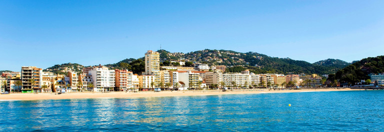 Spain.  Resort Lloret de Mar.  Panorama.